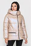 Зимова Подовжена куртка KTL-442 перламутр, фото 7