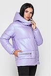 Зимова Подовжена куртка KTL-442 перламутр, фото 4