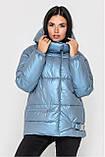 Зимова Подовжена куртка KTL-442 перламутр, фото 9