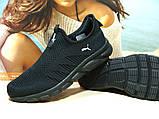 Мужские кроссовки Puma R (реплика)черные 45 р., фото 2