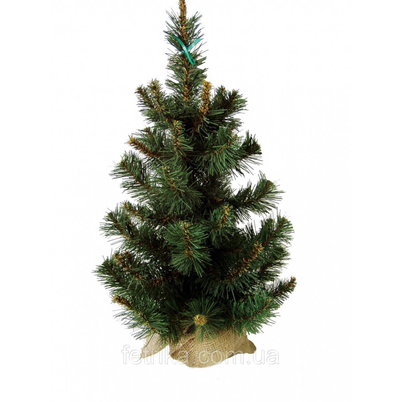 """Искусственная маленькая ель """"Аляска"""", зеленая, 0,6 м"""