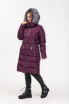Приталенная зимняя куртка с эко-мехом рр 46-56, фото 2