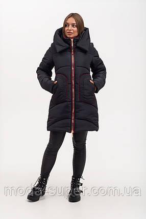 Зимняя куртка полуприталенного силуэта рр 46-56, фото 2