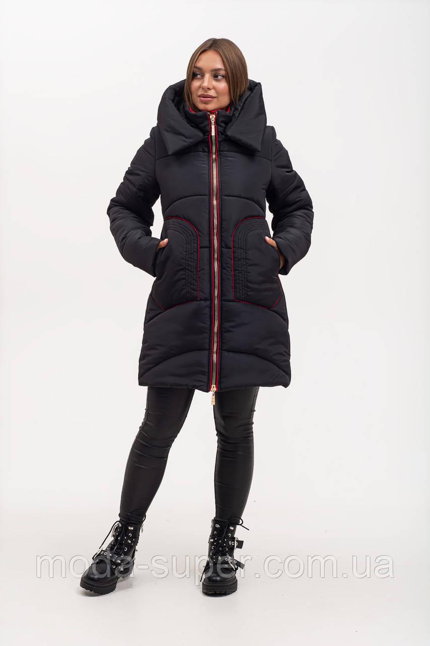 Зимняя куртка полуприталенного силуэта рр 46-56