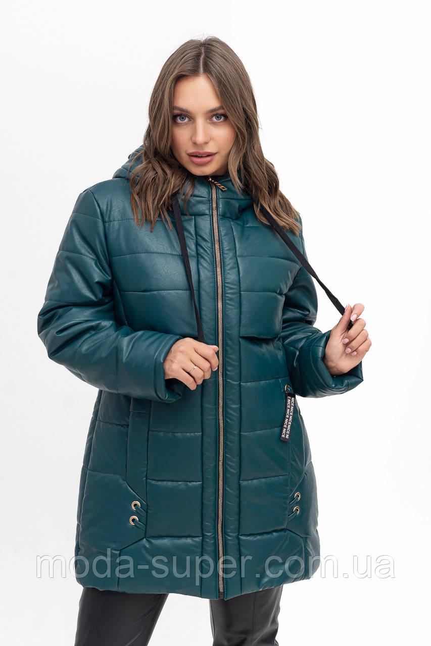 Женская куртка из эко-кожи рр 50-56
