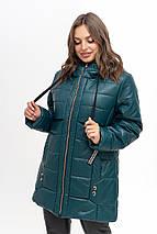 Женская куртка из эко-кожи рр 50-56, фото 2