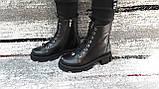 Модные женские демисезонные черные ботинки из натуральной кожи. Размер 36-41., фото 3