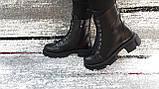Модные женские демисезонные черные ботинки из натуральной кожи. Размер 36-41., фото 4