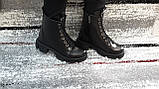 Модные женские демисезонные черные ботинки из натуральной кожи. Размер 36-41., фото 7