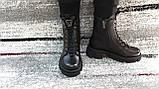 Модные женские демисезонные черные ботинки из натуральной кожи. Размер 36-41., фото 5