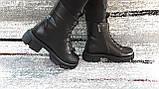 Модные женские демисезонные черные ботинки из натуральной кожи. Размер 36-41., фото 6