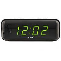 Настольные часы с будильником, цифровые, светодиодные, VST 738, цвет индикации - зелёный, фото 1