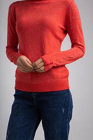 Приятный люрексовый женский гольф с высокой стойкой горловины в размере S/M и L/XL в 2 цветах