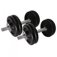 Гантели стальные 2 шт по 10 кг разборные