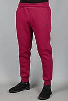 Зимние мужские спортивные штаны Adidas 5572 Бордовые