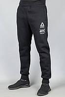 Зимние мужские спортивные штаны Reebok 5571 Чёрные