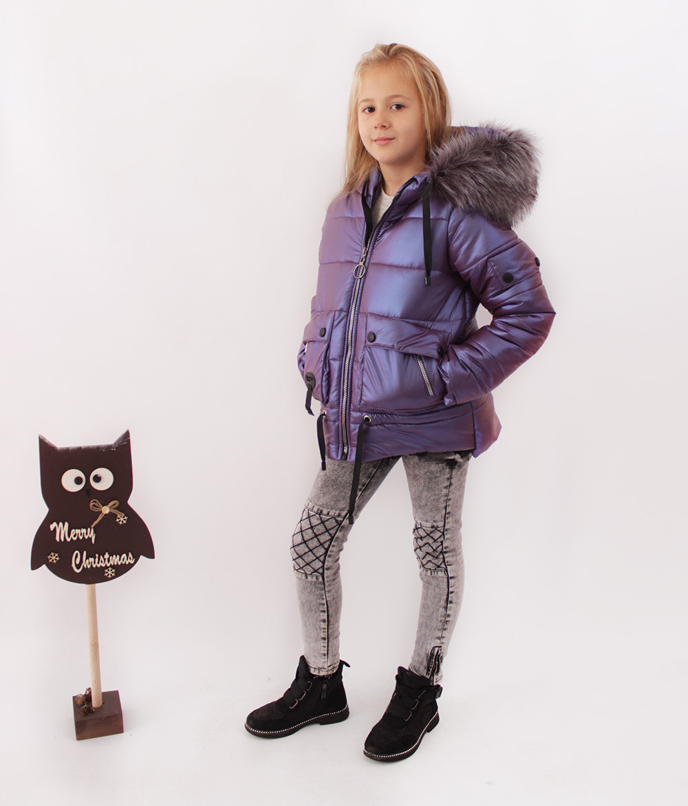 Куртки подростковые для девочек на зиму. Новинка из эко кожи.