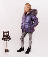 Куртки подростковые для девочек на зиму. Новинка из эко кожи., фото 1