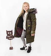 Пальто підліткове для дівчаток на зиму. Новинка., фото 1
