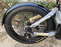 Металлические крылья для фэтбайка 26/4.0, щитки для велосипеда (внедорожник, fatbike) комплект