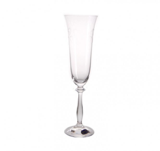 Бокалы свадебные для шампанського Bohemia Angela 40600/C5775/190/2 190 мл 2 шт