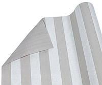 """Бумага упаковочная пт853.5 подарочная """"Линия капучино и белая"""", двухсторонняя 0,7х10м"""