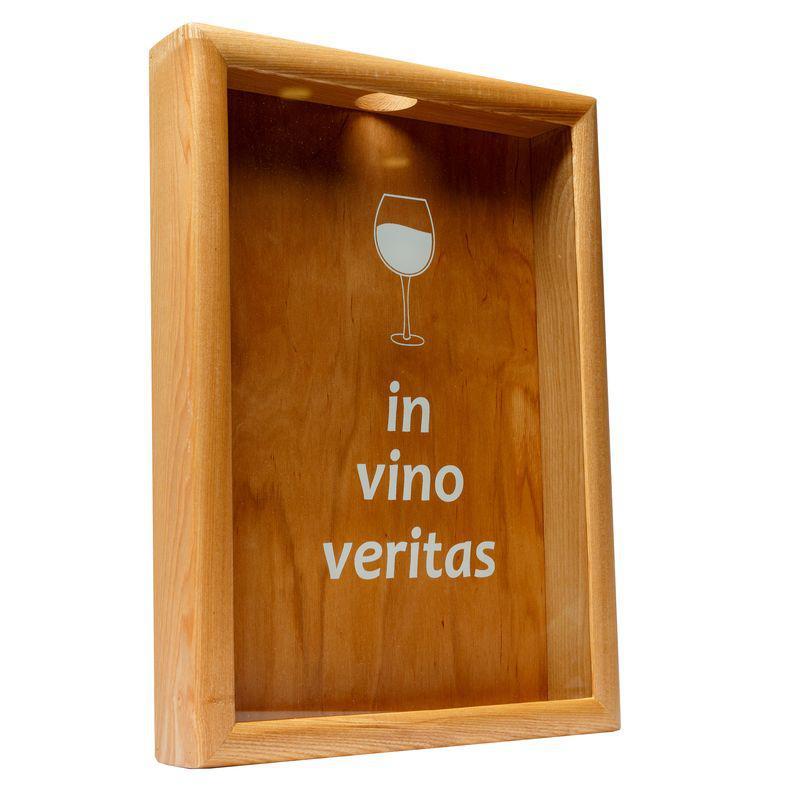 Копилка для винных пробок BST PRK 11 50х35 см. ясень In vino veritas большая
