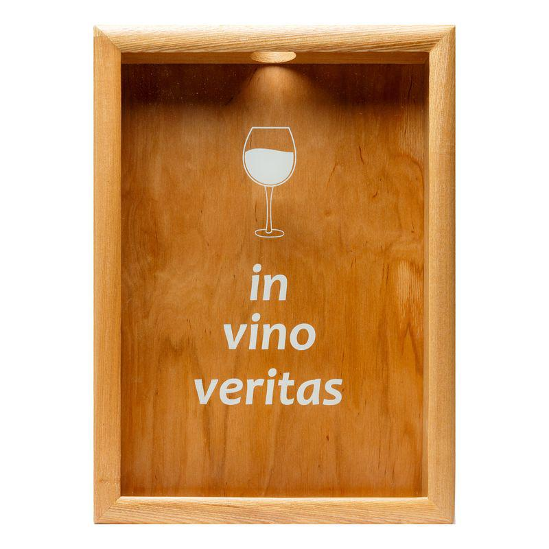 Копилка для винных пробок BST PRK-41 38х28 см. In vino veritas ясень
