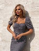 Стильное платье в горошек, фото 1