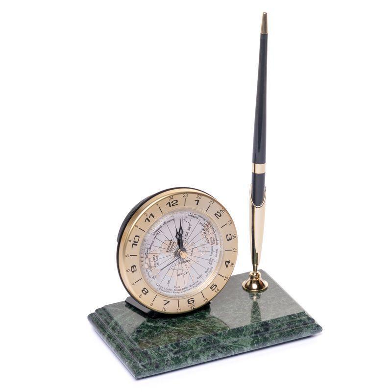 Подставка настольная с часами BST 540027 16х10