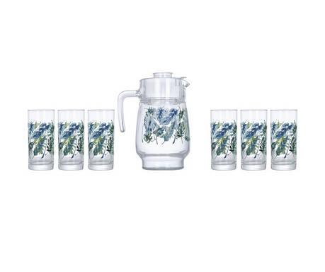 Комплект для напитков Luminarc ATROPICAL FOLIAGE P4821 7 предметов, фото 2