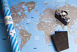 """Скретч карта путешествий 60*84 см. """"Неизведанный мир"""", фото 4"""
