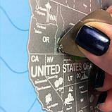"""Скретч карта путешествий 60*84 см. """"Неизведанный мир"""", фото 5"""