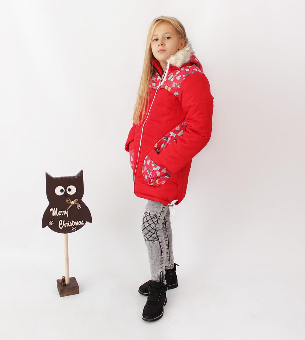 Пальто дитяче на овчині для дівчинки Рукавичка