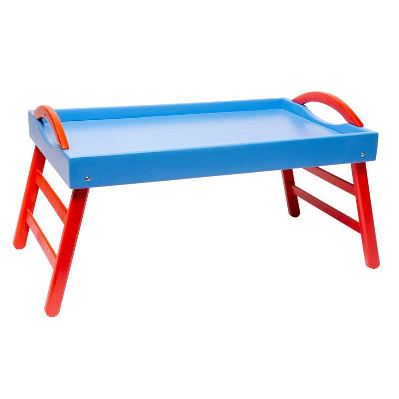Поднос с ножками Сине-красный