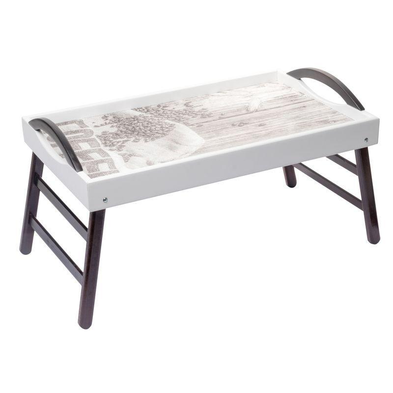 """Столик поднос для завтрака в постели с ручками 52*32 BST 710080 """"Зёрна на мешке"""""""