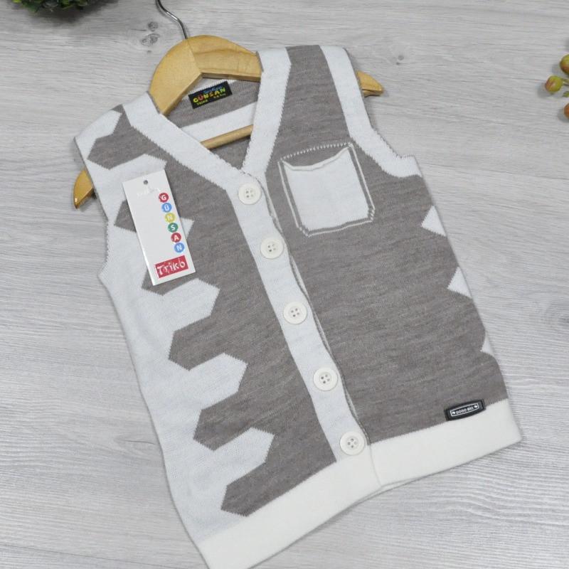 Детский жилет вязаный c карманами, для мальчиков от 5-8 лет, Бежевый