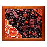 Поднос на подушке BST 710053 44*36 коричневый апельсин шоколад орехи, фото 2