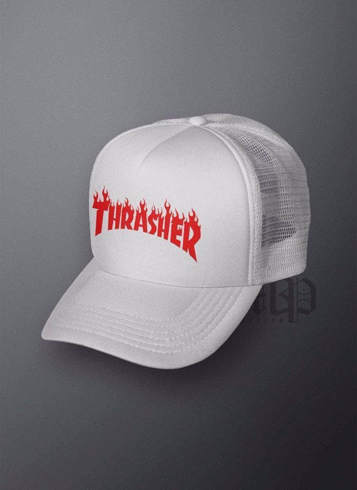 Кепка тракер Трешер (Thrasher), летняя с сеткой