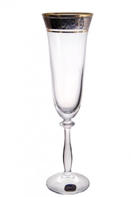 Бокалы для шампанского Bohemia Angela GOLD 40600/43249/190/2 190 мл 2 шт