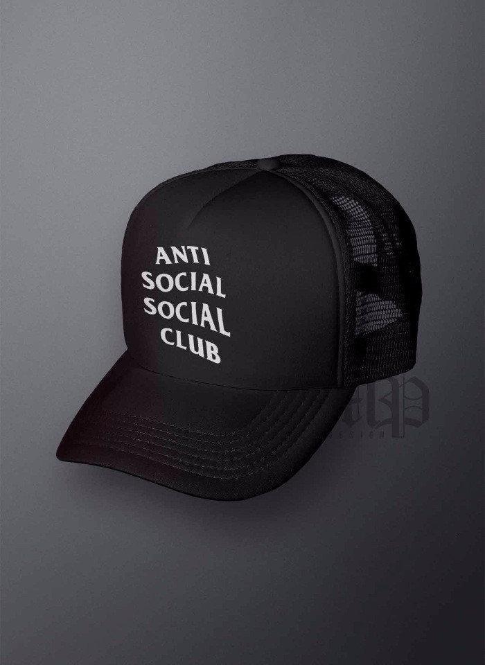 Кепка тракер Анти социал (Anti Social), летняя с сеткой