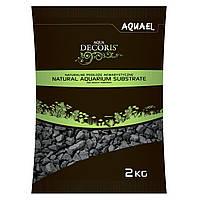 Грунт для аквариума Aquael, черный базальтовый гравий (2-4 мм) 2 кг.