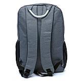 Рюкзак мужской городской BST 430024 30х14х40 см. серый, фото 3