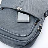 Рюкзак мужской городской BST 430024 30х14х40 см. серый, фото 6