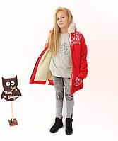 Пальто дитяче зимовий на овчині для дівчинки Рукавичка, фото 1
