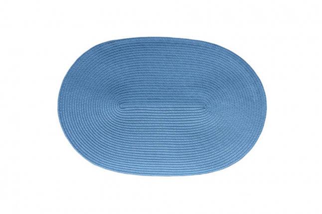 Коврик для горячего Овал PDL Sets КВ049-12 Светло-синий, фото 2