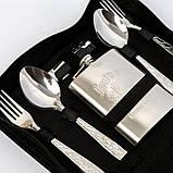 Сумка для пикника с набором посуды BST 100008 28х21х8 см на 6 персон, фото 5
