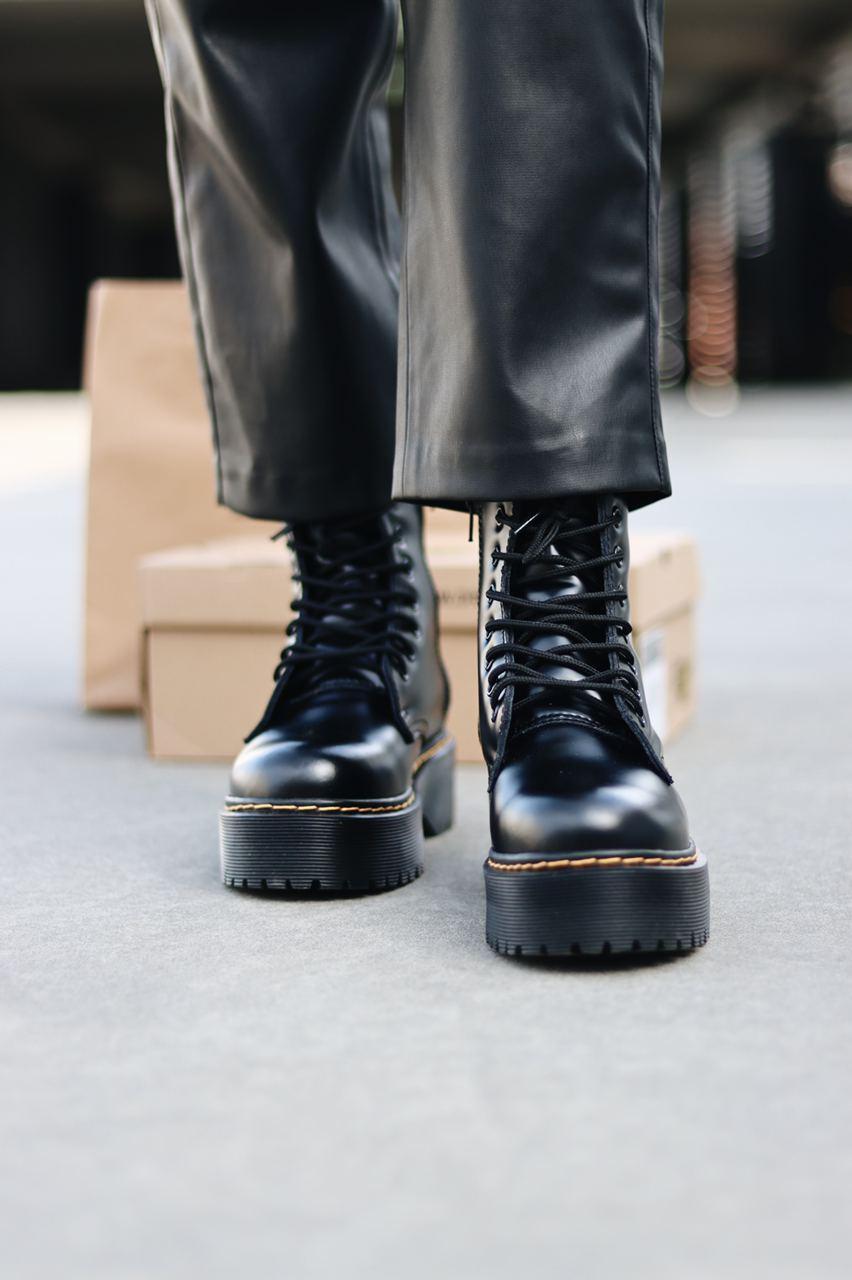 Ботинки женские Dr.Martens Jadon Black Fur