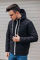 Куртка бомбер черный мужской плащовка с наполнителем, производитель Украина.