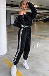Спортивные штаны женские флисовые чёрный, бежевый, 42-44, 46-48, фото 5